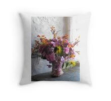 Country Blooms Throw Pillow