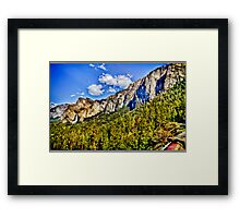 Tunnel view Yosemite, California, united states Framed Print
