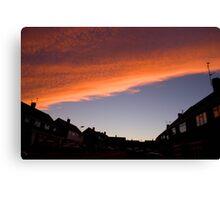 Fire Sky Orange Canvas Print