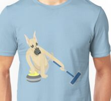 Great Dane Curling Unisex T-Shirt
