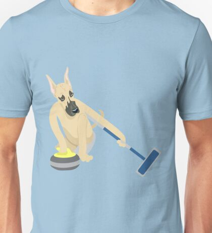 Great Dane Curling Unisex T-Shirt