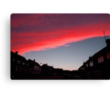Fire Sky Pink Canvas Print