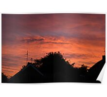 Sunset Orange Poster