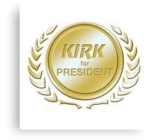 Kirk for President Canvas Print