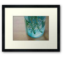 Mason Jar Framed Print