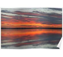 Tuggerah Lake Sunrise,. Poster