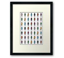 8-Bit Ninjas Framed Print