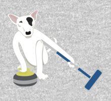 English Bull Terrier Curling Kids Tee