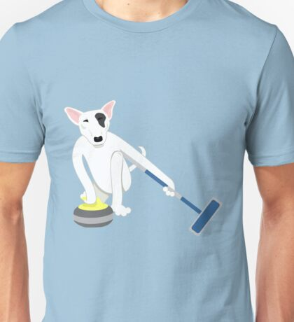 English Bull Terrier Curling Unisex T-Shirt