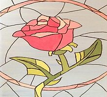 Stained Glass Window Rose by sierrachristy
