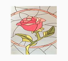 Stained Glass Window Rose Unisex T-Shirt