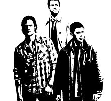 Sam, Dean and Castiel Winchester by stormthief19