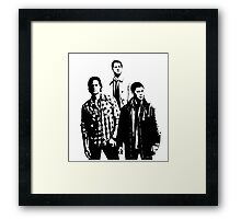 Sam, Dean and Castiel Winchester Framed Print