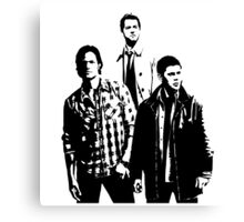 Sam, Dean and Castiel Winchester Canvas Print