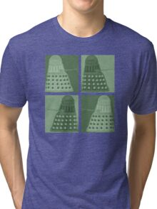 Daleks in negatives - green Tri-blend T-Shirt