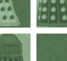Daleks in negatives - green Sticker