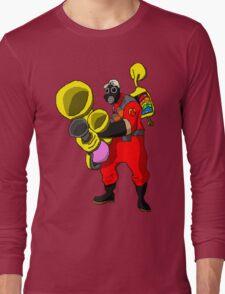 pixel pyro 1 (fanart) Long Sleeve T-Shirt