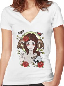 Pagan Goddess Women's Fitted V-Neck T-Shirt
