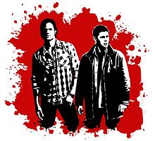 Sam and Dean Winchester on Red by stormthief19
