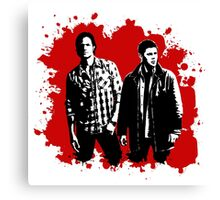 Sam and Dean Winchester on Red Canvas Print