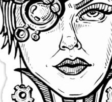 Steampunk Beauty Sticker
