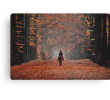 Riding in the magic of late autumn Canvas Print