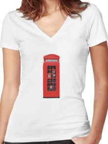 Phonebox Women's Fitted V-Neck T-Shirt