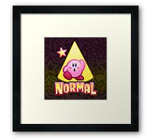 Kirby Normal Framed Print