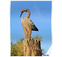 Crane Carving Poster