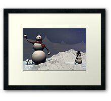 Snowball Fight Framed Print