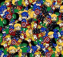 Mini Avengers by rainbowcho