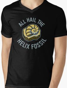 Hail the Helix Fossil Mens V-Neck T-Shirt
