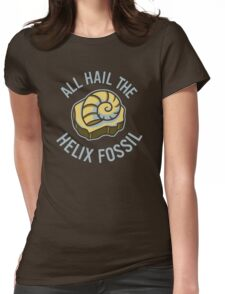 Hail the Helix Fossil Womens Fitted T-Shirt