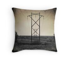 Powerline Perspective Throw Pillow