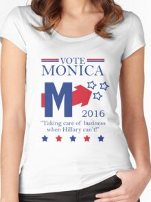 Vote Monica in 2016 Women's Fitted Scoop T-Shirt