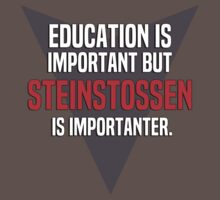 Education is important! But Steinstossen is importanter. by margdbrown