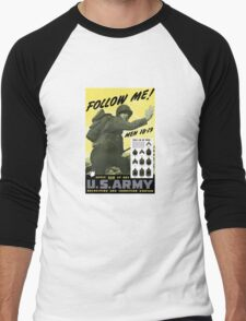 Follow Me - Join The Us Army  Men's Baseball ¾ T-Shirt
