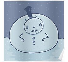 Pudgy Snowman Poster