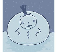 Pudgy Snowman Photographic Print