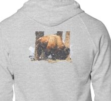 Yellowstone Snow Storm Zipped Hoodie