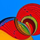 Colors and Shapes Abstract by Joy  Rector