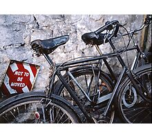 Don't move the bicycles ! Photographic Print