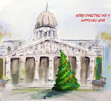 Nottingham Council House Christmas card by Carole Russell