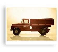 Red antique toy truck Canvas Print