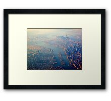 New York from the Air  (2012) Framed Print