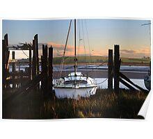 Pleasure Boat Skipool Creek Poster