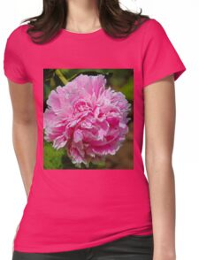 light pink peony flower Womens Fitted T-Shirt