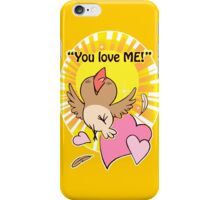 Little happy bird saying you love me! iPhone Case/Skin