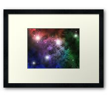 Space Clouds Framed Print