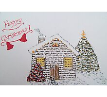 Christmas Cabin 1 Photographic Print